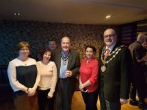 Staff meet Bury and Wigan Mayors